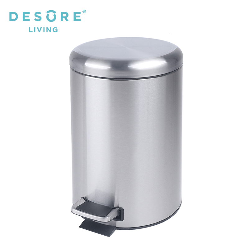 12l Stainless Steel Kitchen Trash Can With Slow Down Function/pedal Waste  Bin - Buy Pedal Waste Bin,Kitchen Trash Can,Trash Can Product on Alibaba.com