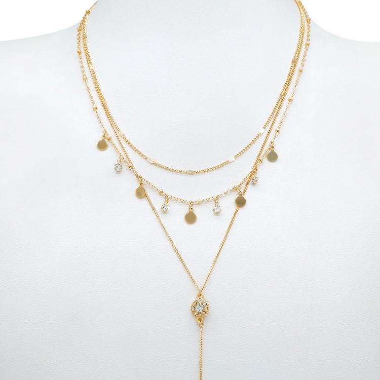Fashion Women Jewelry Glass/&Rhinestone Necklace Chain Chunky Collar Pendant A01