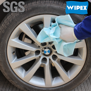 Premium quality 30*35cm spunlace car wipes for car cleaning