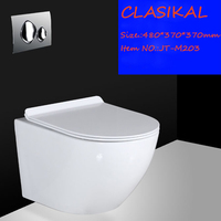 Chaozhou factory sanitary ware ceramic fashionable wall hung toilet