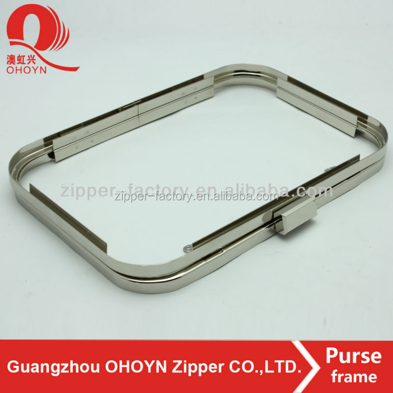China high quality metal clutch purse frame with handle