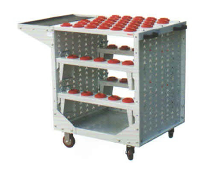 Metal workshop CNC tool trolley