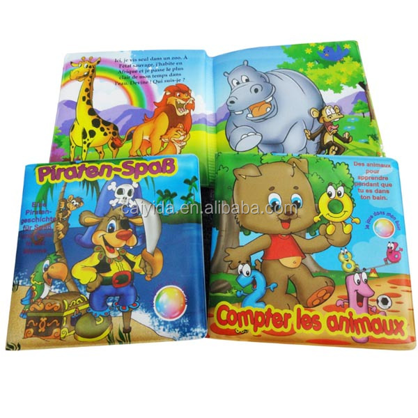 Latest Plastic Baby Bath Books with Full color Printing