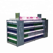 supermarket showy beauty corrugated display rack and cosmetic shelf