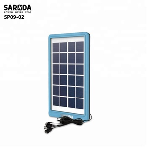 SARODA 6V 3W mini solar panel with USB micro plugs for charging cell phones, multi plugs solar panel for digital appliance