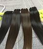 Human hair extension crochet hair weaving and clip in hair extension