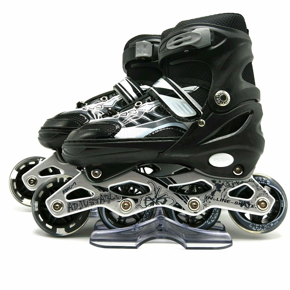 2017 new design bounce inline skate adjustable roller shoes with lights for kids