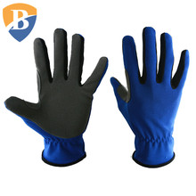 Reinforced Palm Synthetic Leather Work Gloves with Fabric Back