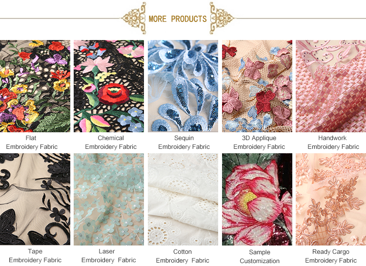 High Quality 100% Organic Cotton Lace Fabric For Garment
