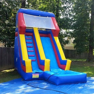 china cheap inflatables backyard swimming pool water slides ,red and blue inflatable waterslides