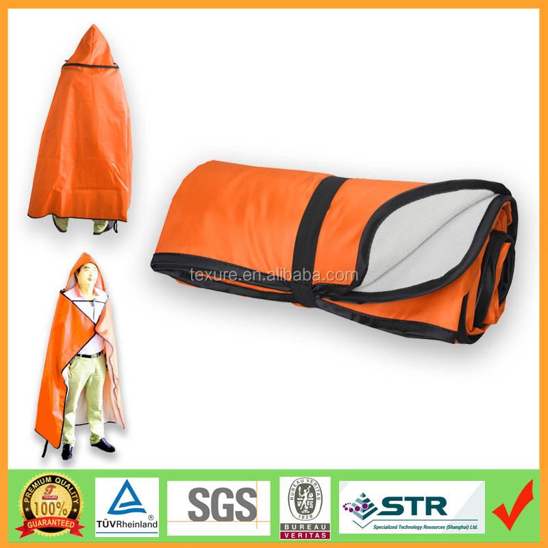hooded stadium poncho blanket with waterproof nylon blanket buy fleece blanket ponchoroll up stadium waterproof blanket