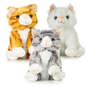 Realistic Looking Big Stuffed Toy Animals Plush Toy Cats Pack of 3