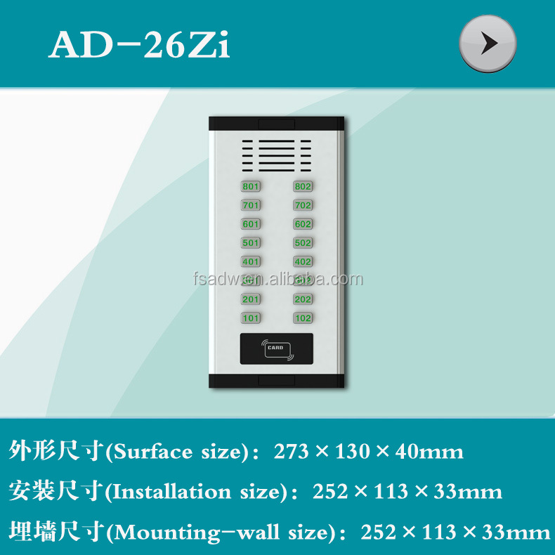 Video Door Phone Shell /video intercom/Doorphone (26ZI)