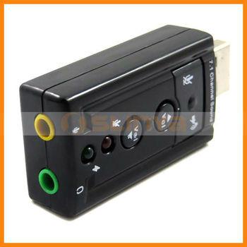 Chip âm thanh 7.1 thẻ usb với CM108 Bonding màu đen
