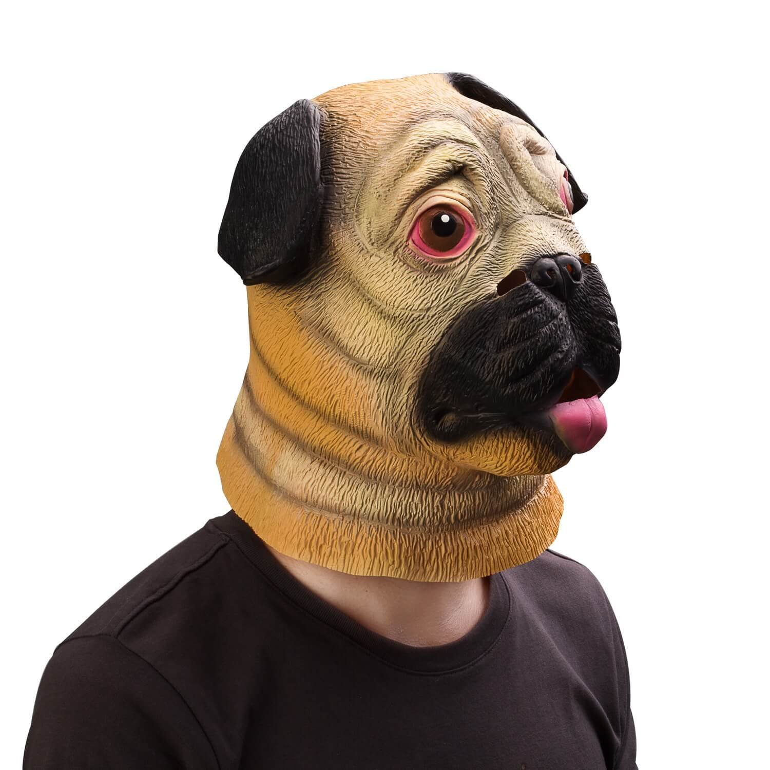 get quotations ylovetoys latex animal head mask pug dog for halloween costume party