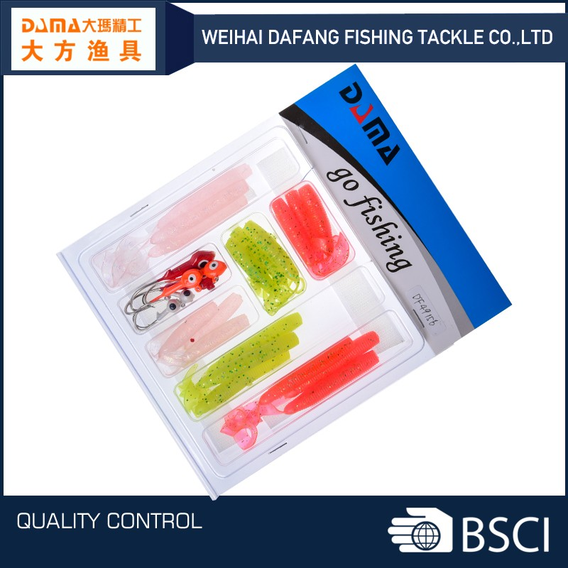 DF49156 china weihai best fishing soft lure set