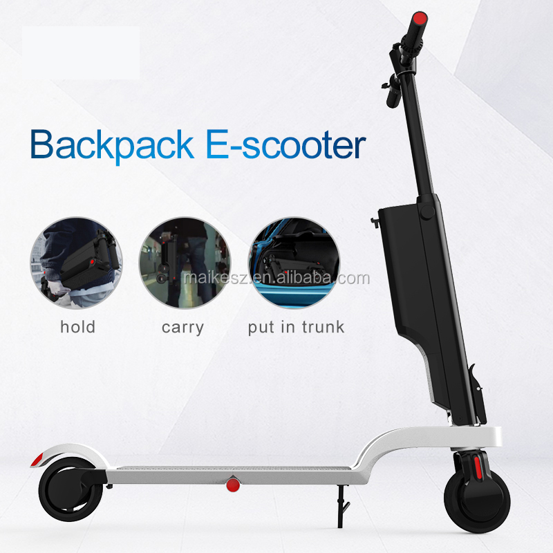 Folding electric scooter with24V6Ah High capacity lithium-ion battery pack portable electrical scooter
