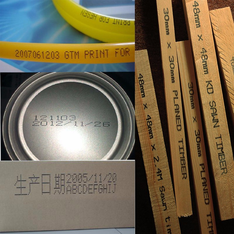 inkjet print printing production date, batch number, bar code,trademark logo