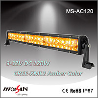3000K amber lighting bar LED Fog light 120W 20 inch yellow LED