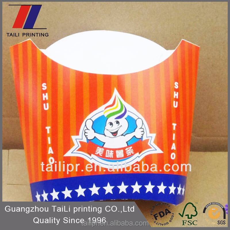 Cone shaped French fries box / packing box / chips box *FB20131204-1