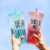 New Christmas Straw Cup Ice Cooler Gel Bottle with Straw