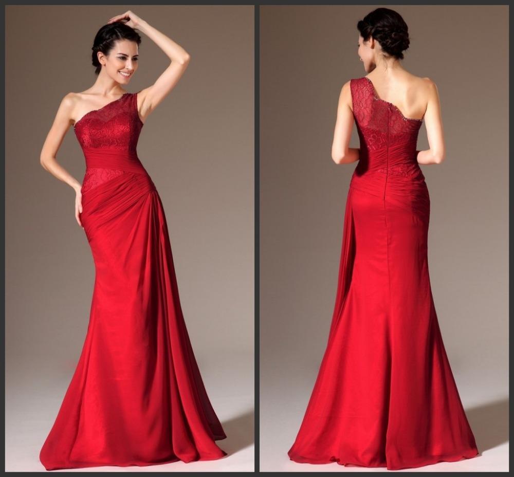 Vestidos De Fiesta 2015 nueva Red Sash encaje vestido De