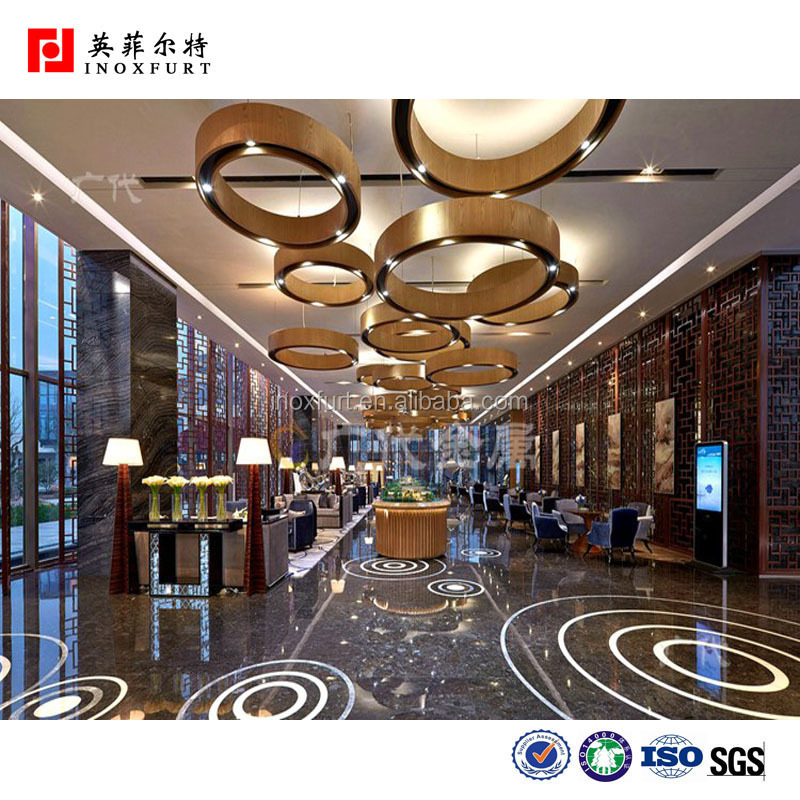 Modern Hotel Reception Hotel Lobby Partition Design Decorative ...