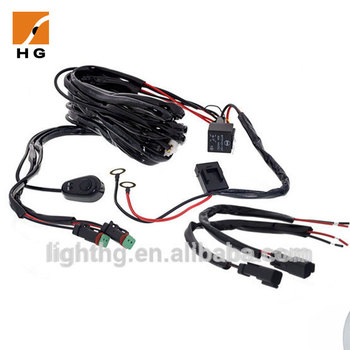 3 meters wire harness with switch and relay dual channel for led rh alibaba com led wiring harness for sale perth led wiring harness ebay
