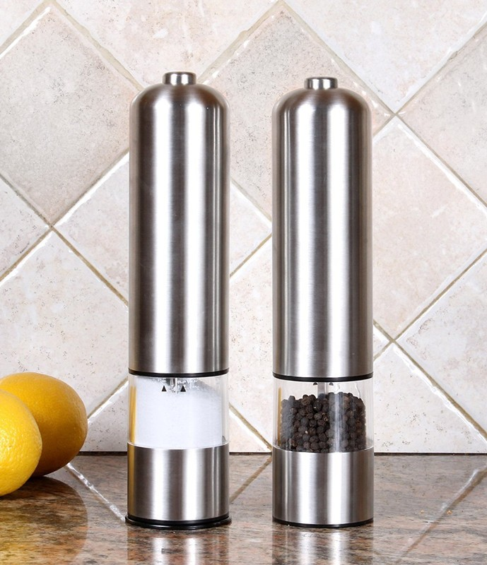 stainless steel salt and pepper grinder electric salt and pepper grinder set salt and pepper grinder new improved