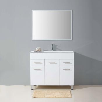 Customized Size Floor Unit 3 Doors 2 Drawers Marble Washbasin