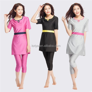 New arrival (OEM) lady muslim swimsuit/woman muslim swimwear in stock