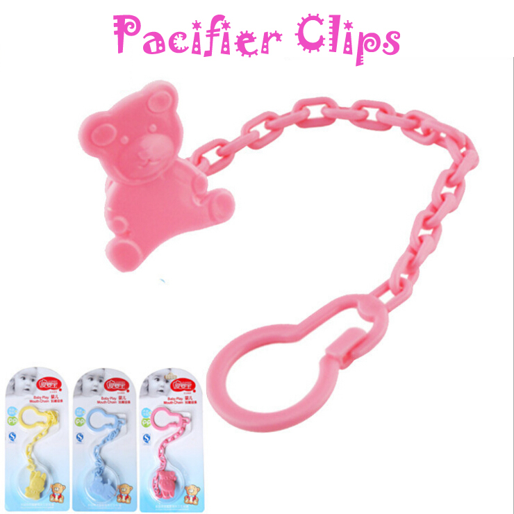 High quality ABS toddler character animal Pacifier clips baby nipple chains 8056