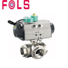Factory wholesale price pneumatic inside thread 3 way ball valve dn50