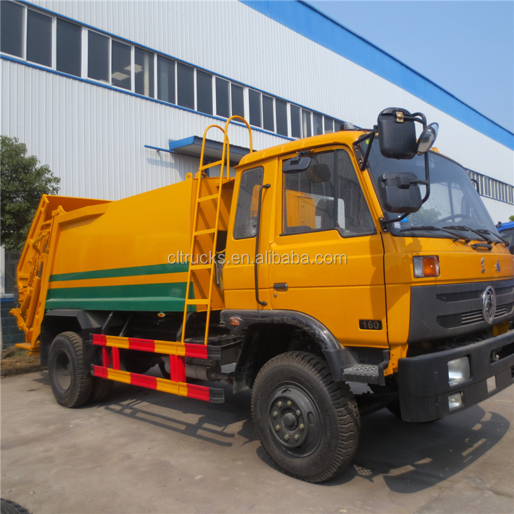 Wholesale price dongfeng 10m3 right hand drive garbage compactor truck