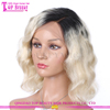 Luffy wig brand 10inch 130%density bob style silk top lace front wigs brazilian human hair ombre short bob wigs for black women