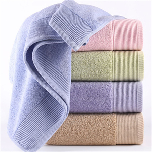 wholesale Bulk standard adult used luxury wash hand organic cotton color towel