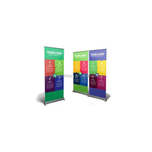China Factory Foldable Aluminum Double Sides Roll Up Banner For Advertising