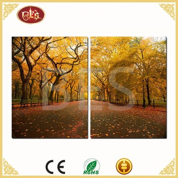 winter landscape lighted painting wall art home decoration