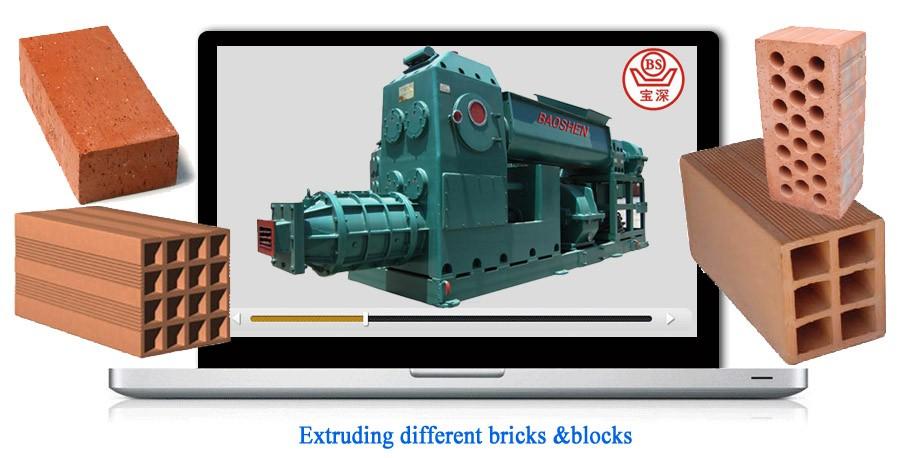 extruder 50  auto red brick making machine