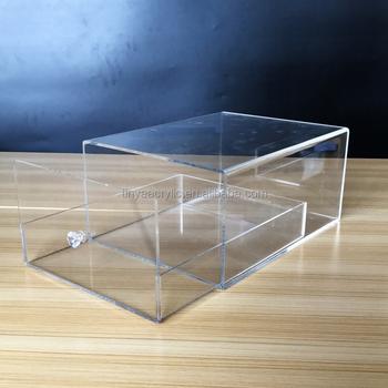 Made in China Custom Showcase Clear Acrylic Shoe Box for Brand