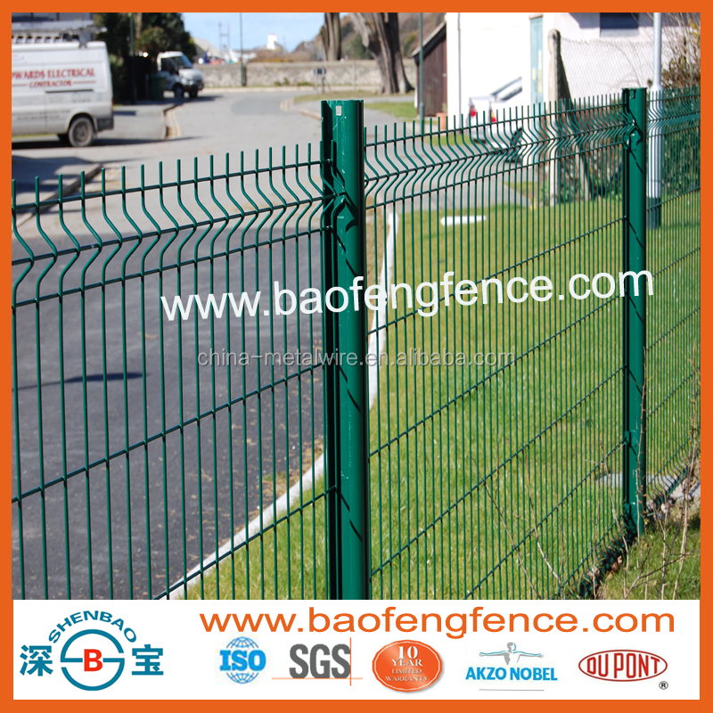 Professional short delivery welded mesh fence with RHS post