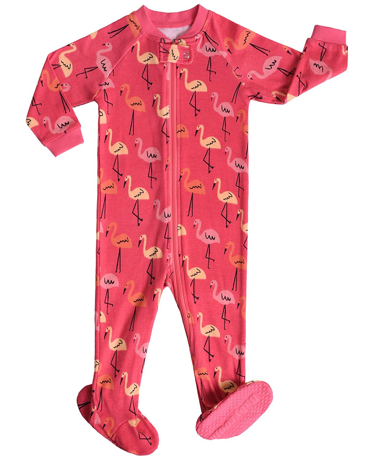 32675df102 Get Quotations · Babyroom Little and Baby Girls Footed Flamingo Pajamas  Sleeper 100% Cotton Size 6M-5T