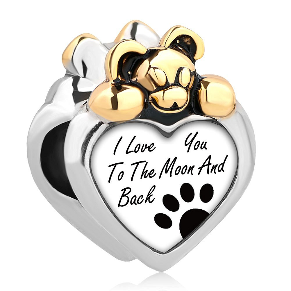 594d00c7e Buy Heart I Love You To The Moon And Back Dog Paw Mickey Mouse Charm Beads  Fit Pandora Jewelry Bracelet in Cheap Price on m.alibaba.com