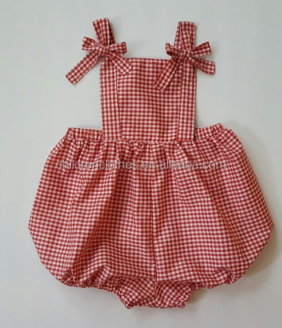 Wholesale baby clothes first impressions clothing checks romper