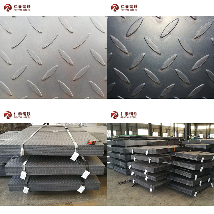 Top quality and factory price tear drop plate standard steel checkered plate sizes