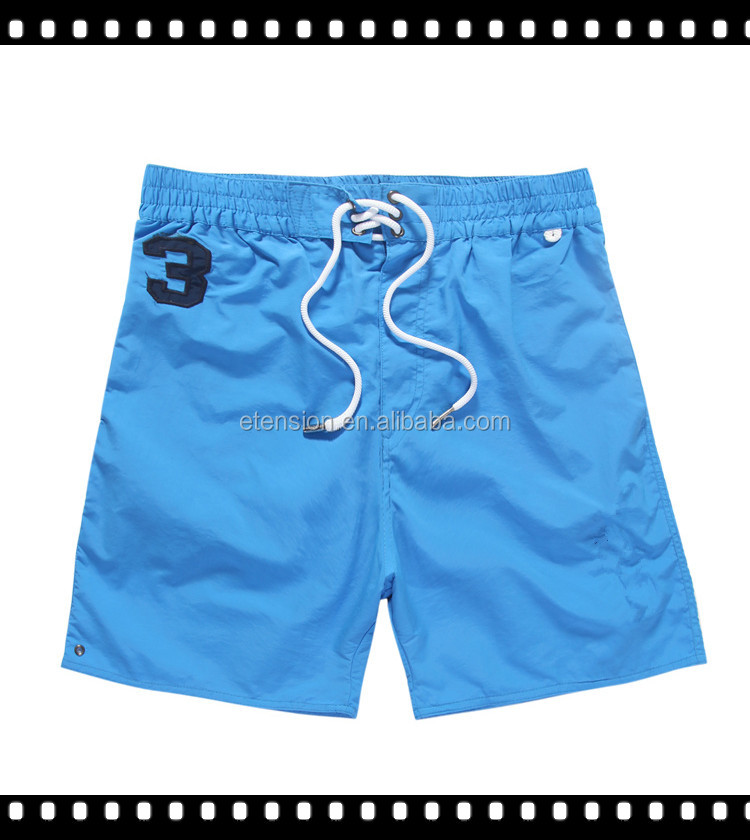 Embroidered Logo Zipper Design Men Fashion Short Pants