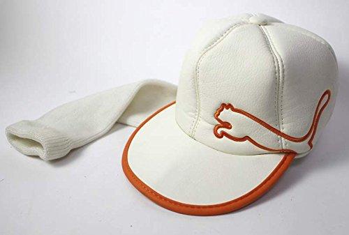 1fb4a7fb52e Get Quotations · Cobra Rickie Fowler Flat Bill White   Orange stitch Puma  Hat 460cc Driver Head Cover Headcover