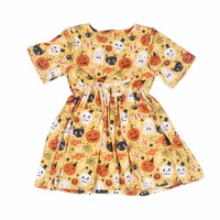 organic cotton baby clothes baby fancy frocks design Halloween kids clothing