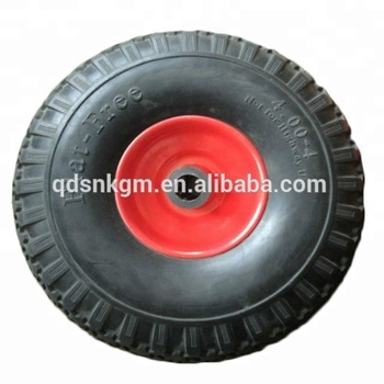 Manufacturer Polyurethane Foam Tire 4.00-4 With Rim