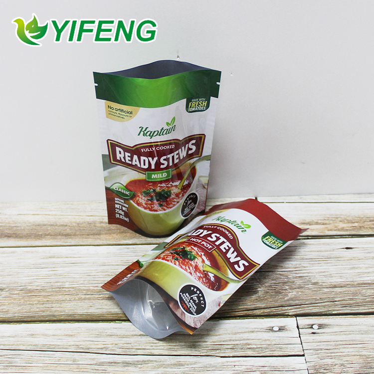 excellent quality 500ml tomato sauce salad Heat seal dressing packaging plastic pouch bag